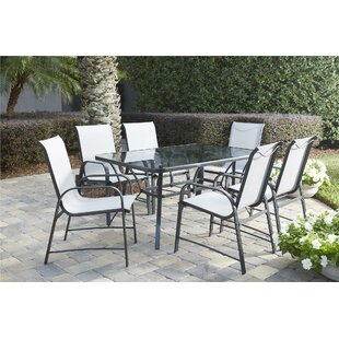 Outdoor Round Table And Chairs Wayfair - 7 piece outdoor dining set round table