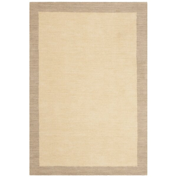 Archer Hand-Woven Wool Ivory/Beige Area Rug by Breakwater Bay