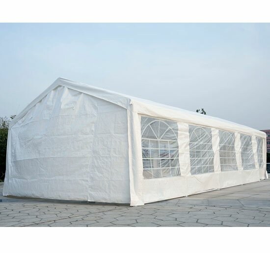 Heavy Duty Carport 16 Ft. W x 32 Ft. D Steel Party Tent by Outsunny