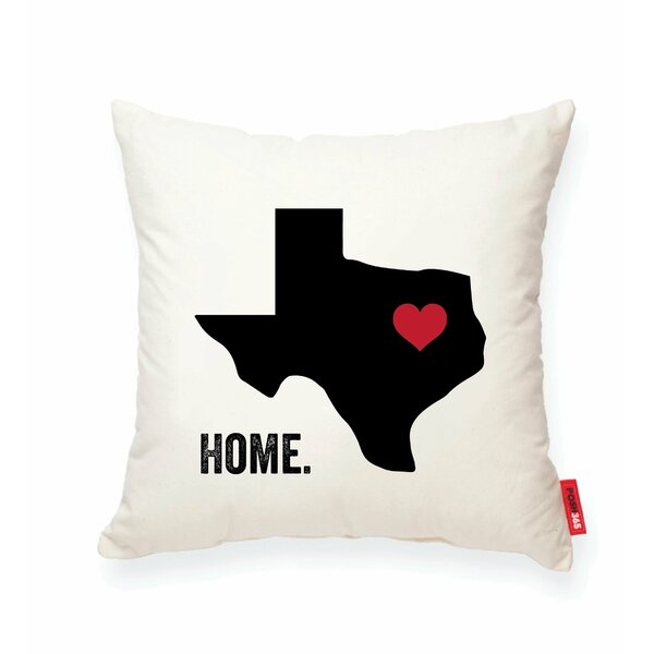 Pettry Texas Cotton Throw Pillow by Wrought Studio
