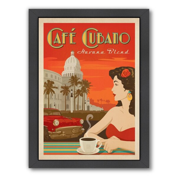 Coffee Cafe Cubano Framed Vintage Advertisement by East Urban Home