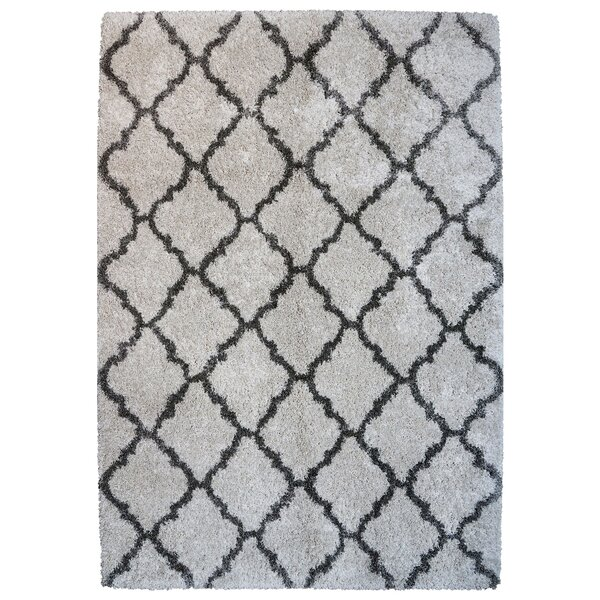 Al Maha Tile Shag Ivory Area Rug by Darby Home Co