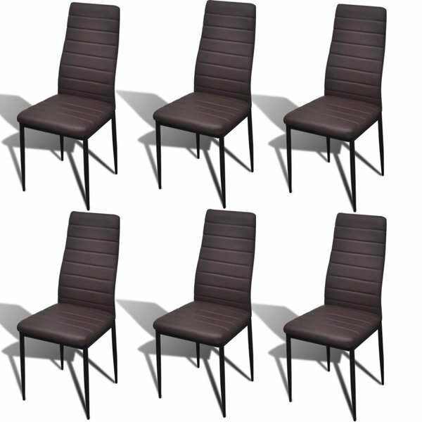 Albertville Slim Line Upholstered Dining Chair (Set of 6) by Orren Ellis