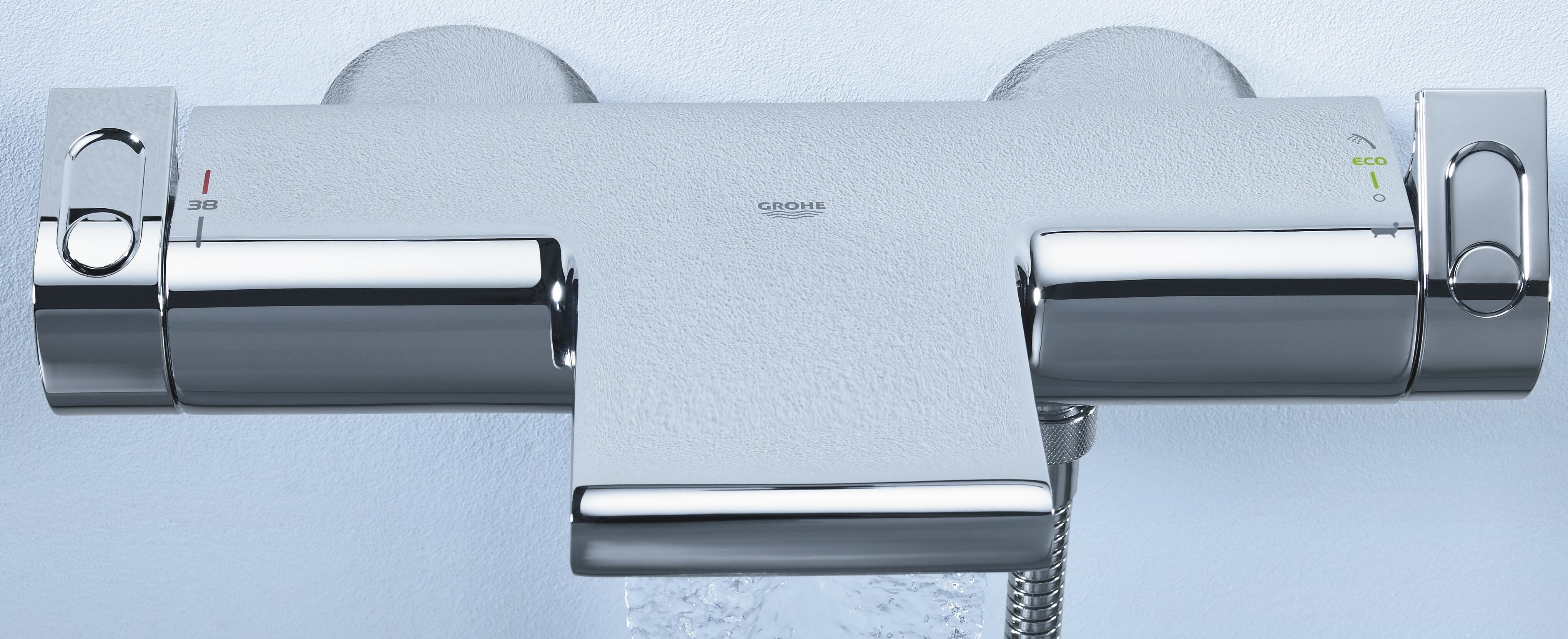 Grohe Grohtherm Thermostatic Tub and Shower Faucet with TurboStat ...