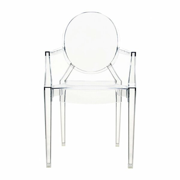 Ghost Stacking Patio Dining Chair (Set of 4) by Kartell Kartell