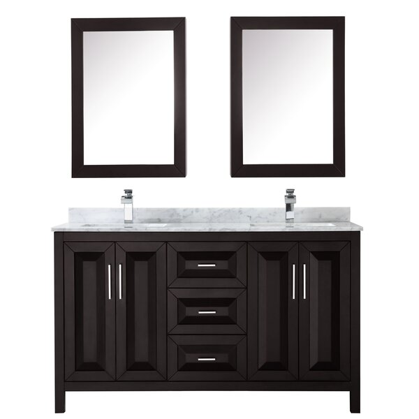 Daria 60 Double Bathroom Vanity Set with Medicine Cabinet by Wyndham Collection