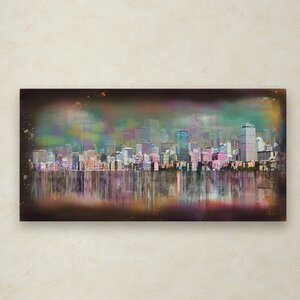 Boston by Ellicia Amando Painting Print on Wrapped Canvas by Trademark Fine Art