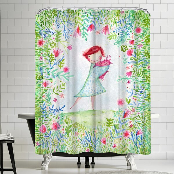 Paula Mills Hearts Are Made for Love Shower Curtain by East Urban Home
