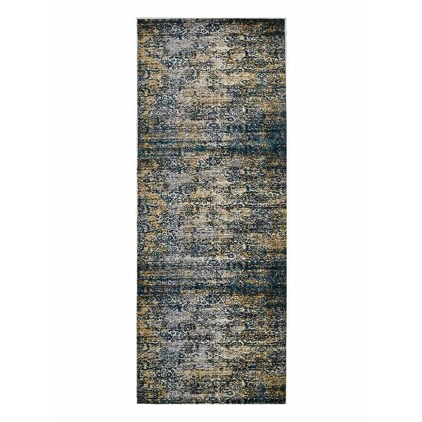 Hartshorn Ivory/Blue Area Rug by Bungalow Rose