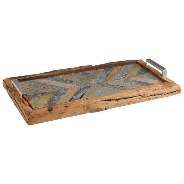 Worn Welcome Accent Tray by Cyan Design