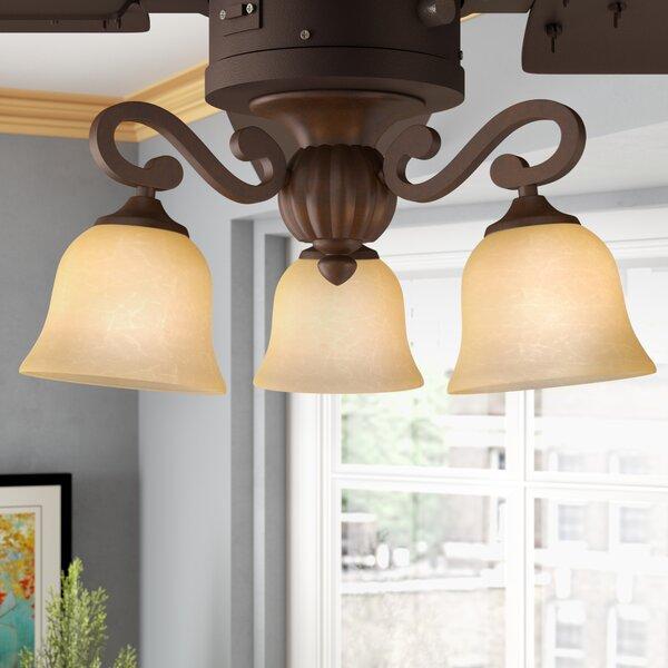 3-Light Branched Ceiling Fan Light Kit by Fleur De Lis Living