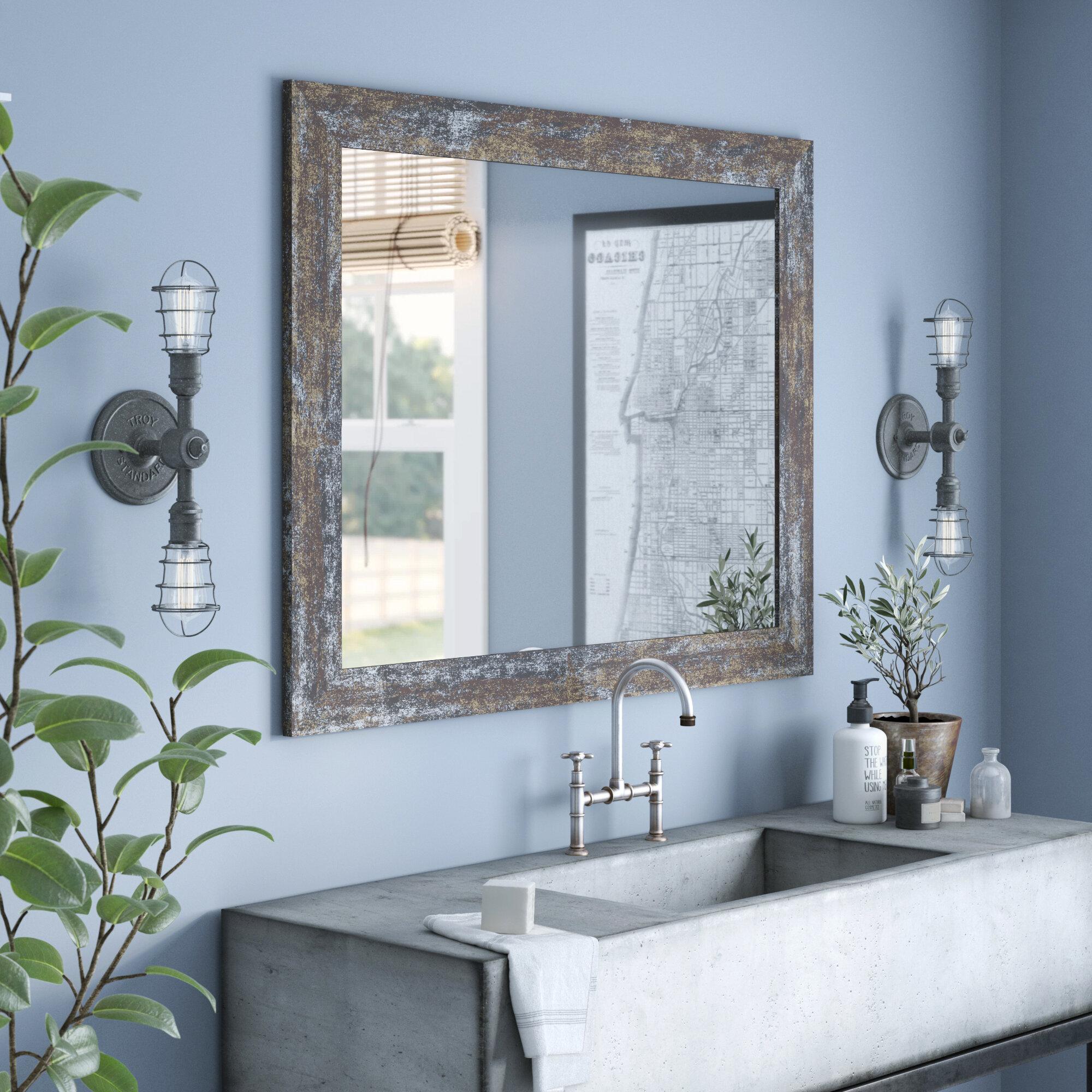 Williston Forge Edmonia Iron Age Oxidized Bathroom Vanity Mirror Reviews Wayfair