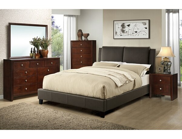 Seth Queen Upholstered Platform Configurable Bedroom Set by Charlton Home