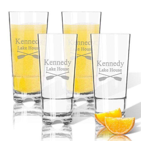 Personalized Oars Tritan 16 oz. High Ball Glass (Set of 4) by Carved Solutions
