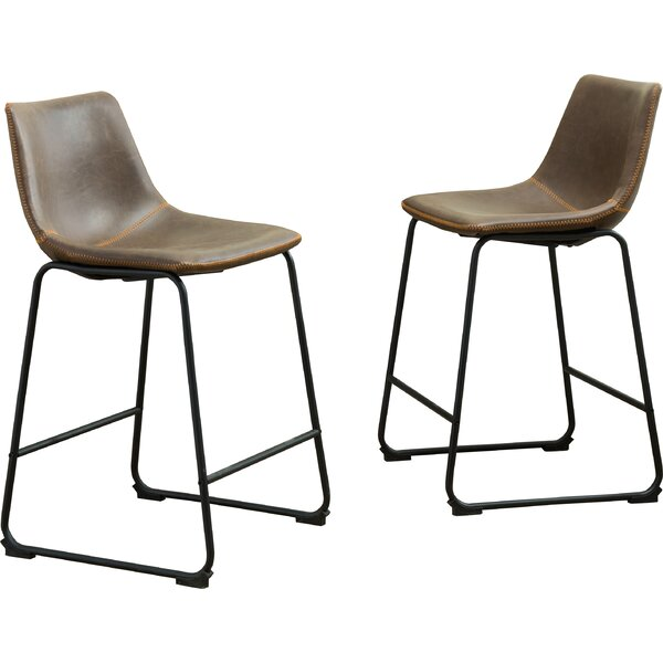 Bamey Vintage 24.5 Bar Stool (Set of 2) by Trent Austin Design