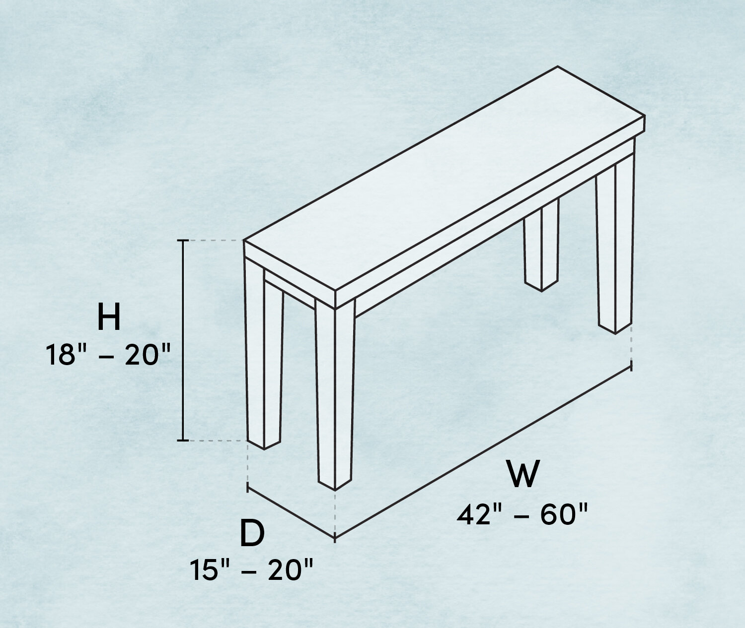What Is The Standard Bench Height And Other Bench Dimensions To Know Wayfair