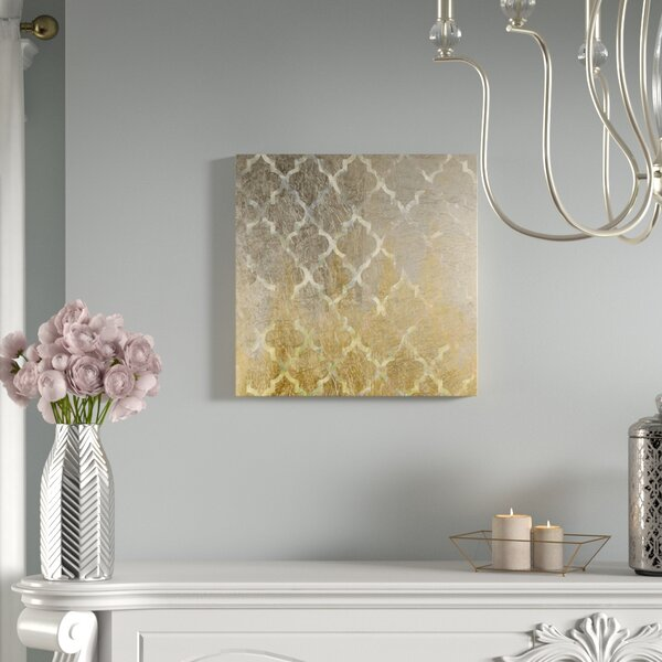 Arabesque Platinum Graphic Art on Wrapped Canvas by Mercer41
