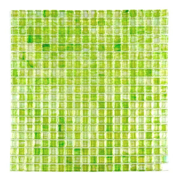 Honey Berries 0.63 x 0.63 Glass Mosaic Tile in Pearl Green by Abolos