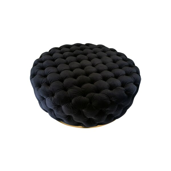 Pooler Modern Tufted Cocktail Ottoman by Everly Quinn