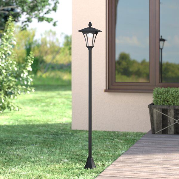 Croley Solar Powered Vintage 1-Light LED 65 Post Light by Darby Home Co