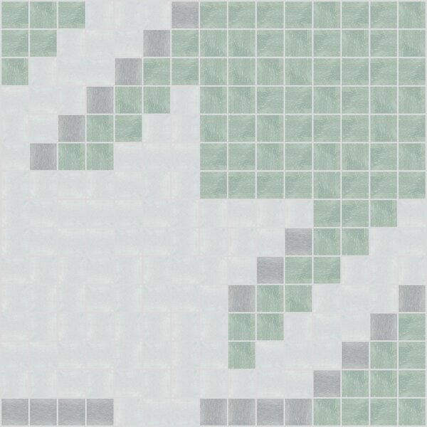 Urban Essentials Glossy 3/4 x 3/4 Glass Glossy Mosaic in Placid Turquoise by Mosaic Loft