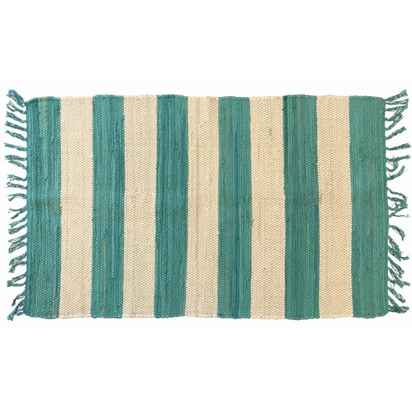 Bruno Hand-Woven Aqua Area Rug by Highland Dunes