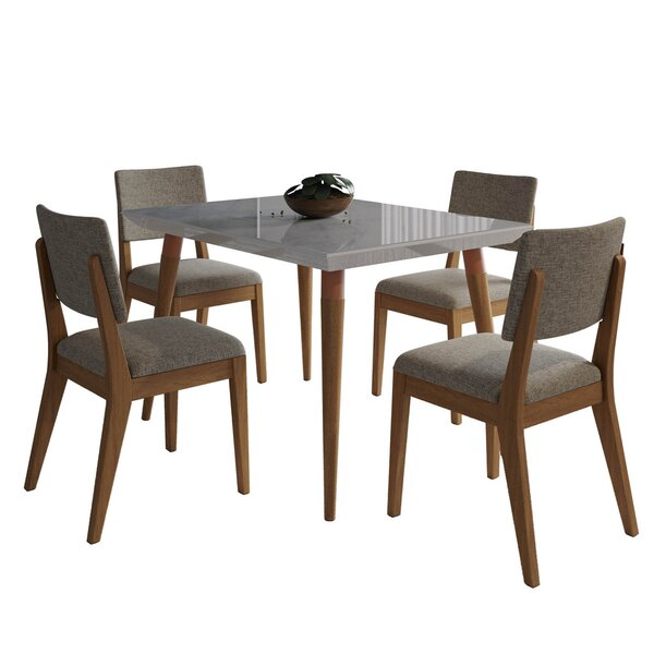 Lemington 5 Piece Dining Set by George Oliver