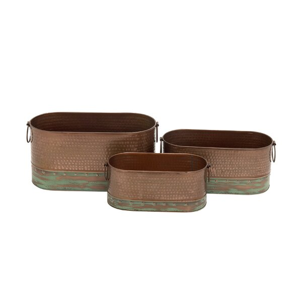 3-Piece Iron Pot Planter Set by Cole & Grey