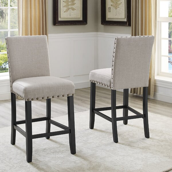 Haysi Bar Stool Set (Set of 2) by Greyleigh