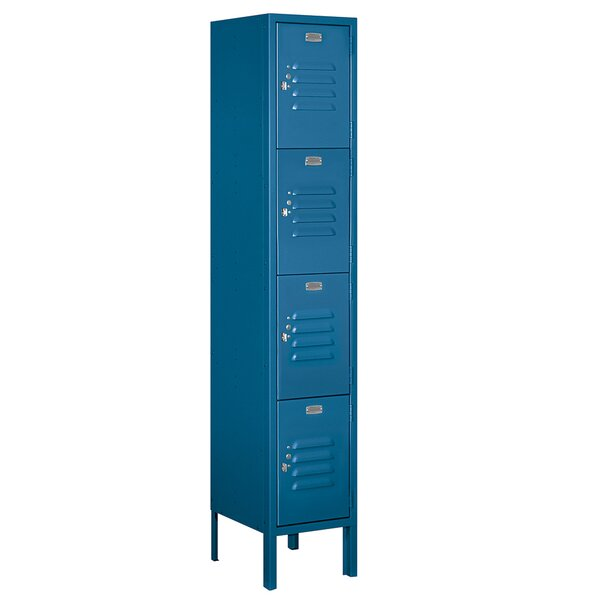 4 Tier 1 Wide Employee Locker By Salsbury Industries.