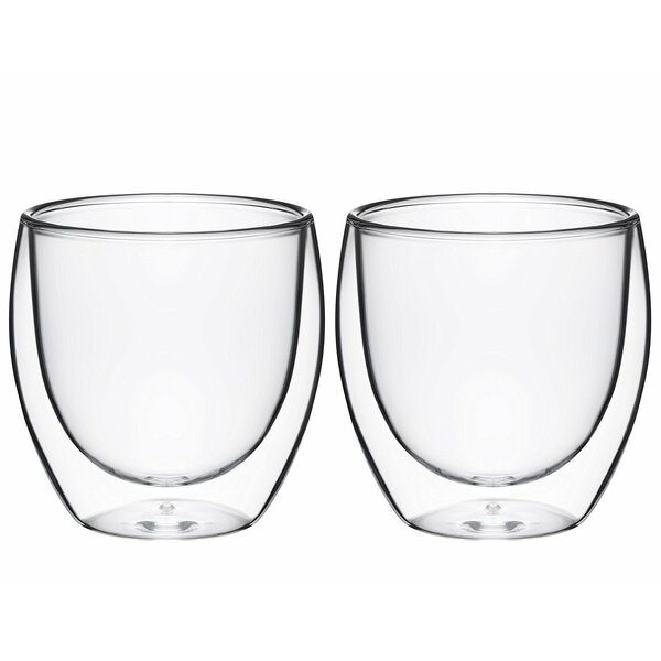 Ebling 8 oz. Glass Every Day Glasses (Set of 2) by Ebern Designs