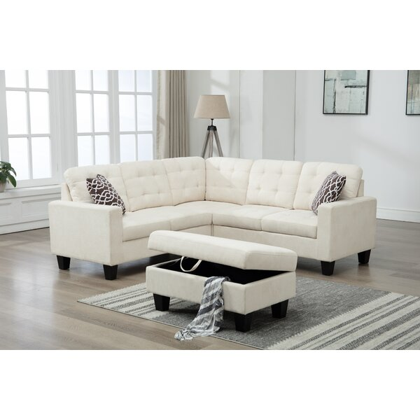 Butcher Sectional Sofa With Ottoman by Ebern Designs