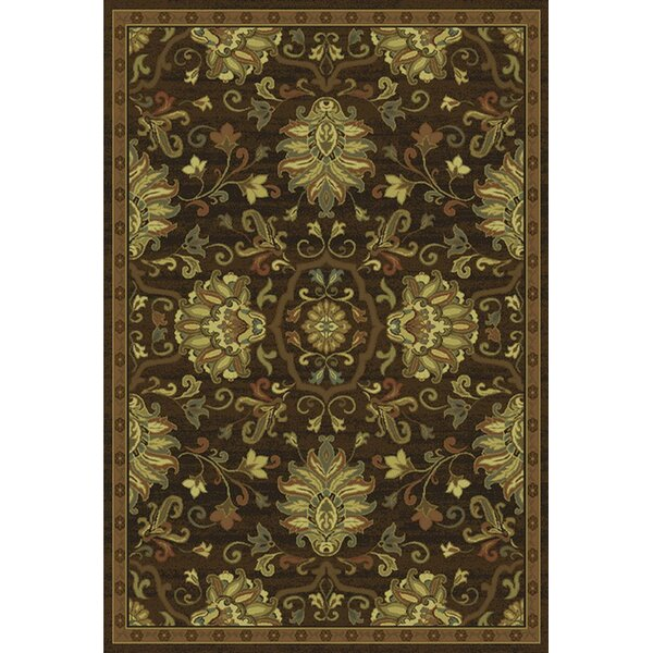 Dogwood Brown/Beige Area Rug by Charlton Home