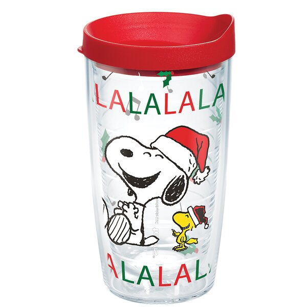 Peanuts Christmas Snoopy Santa 16 oz. Plastic Travel Tumbler by Tervis Tumbler