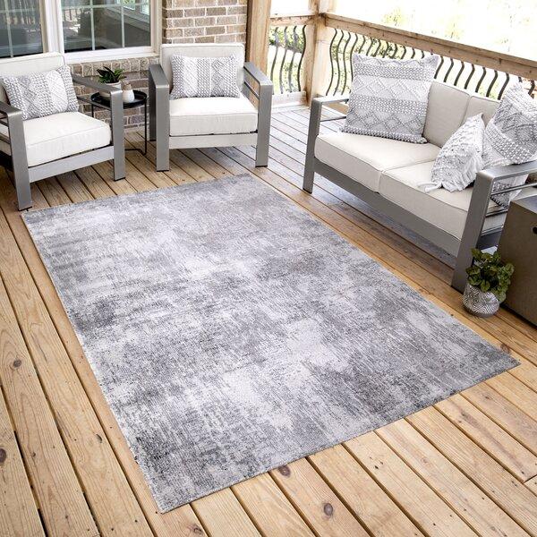 Maritza Gray Indoor/Outdoor Area Rug