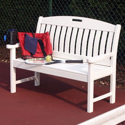 Nautical Plastic Garden Bench By POLYWOOD® by POLYWOOD® Coupon