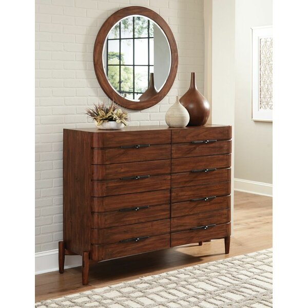 Cobbs Mule 8 Drawer Double Dresser with Mirror by Corrigan Studio