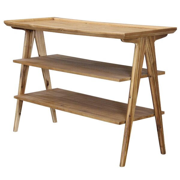 Mastrangelo Rectangular 3-Tier Console Table By Union Rustic