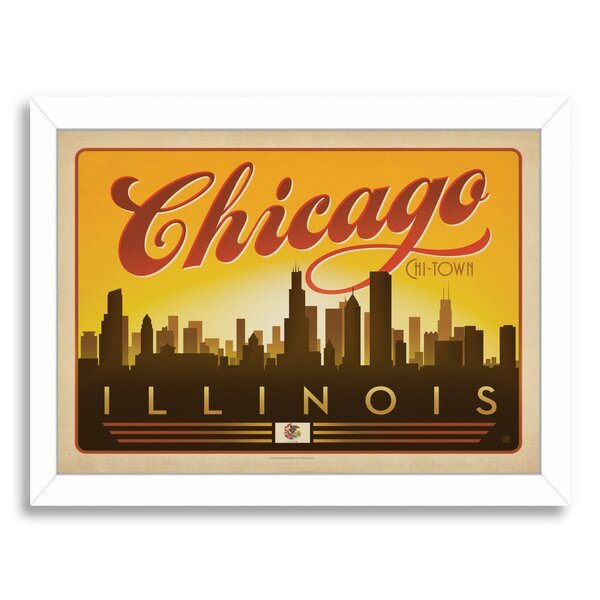 Chicago Skyline Framed Vintage Advertisement by East Urban Home