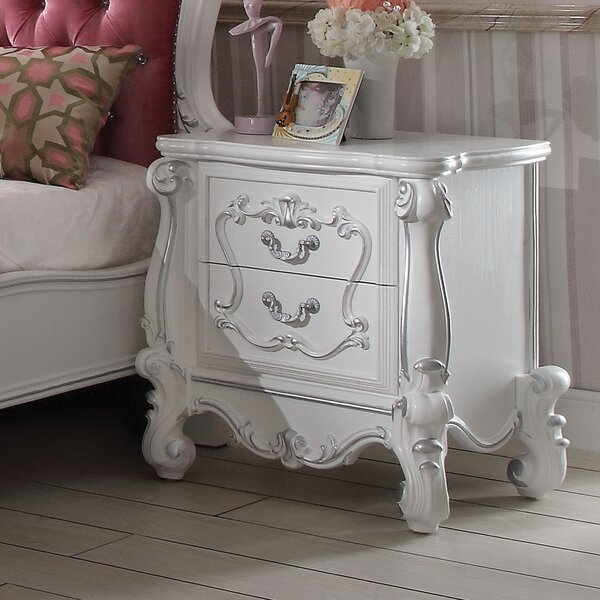 Welton 2-Drawer Nightstand in Antique White by Astoria Grand Astoria Grand