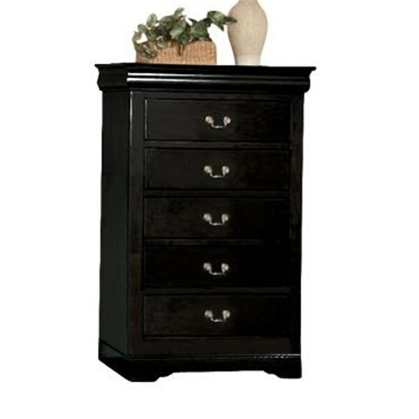 Danley Wooden 5 Drawer Chest by Charlton Home