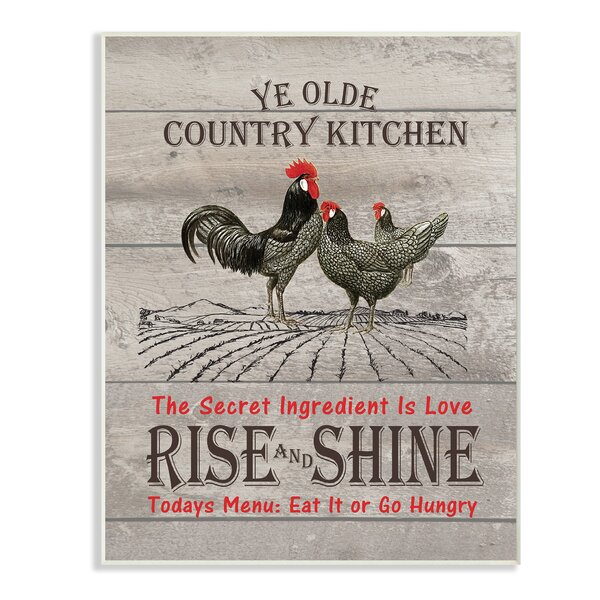Old Country Kitchen Rise & Shine Textual Art by Stupell Industries