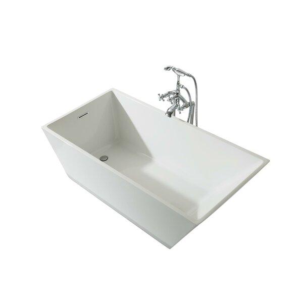 Verona Platinum 67 x 31 Freestanding Soaking Bathtub by Ariel Bath