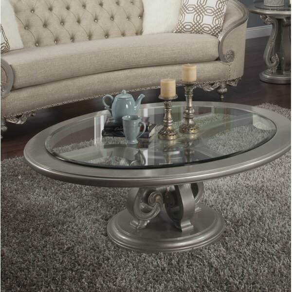 Oak Hill Pedestal Coffee Table By Astoria Grand