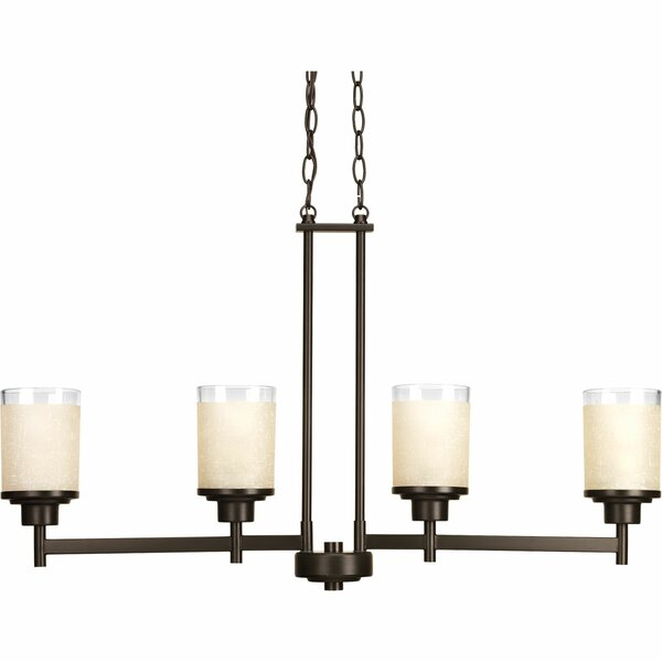 Alexa 4 Light Chandelier by Progress Lighting