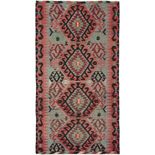 Norcross Handwoven Flatweave 5'6 x 10'3 Wool Copper/Red/Green Area Rug by World Menagerie