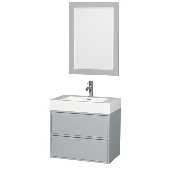 Daniella 29 Single Bathroom Vanity Set with Mirror by Wyndham Collection