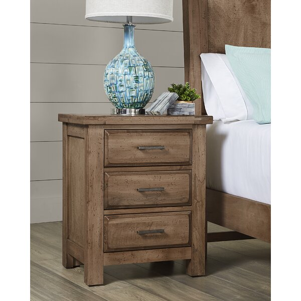 Walkerville 3 Drawer Nightstand by Loon Peak