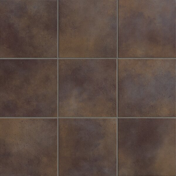 Poetic License 18 x 18 Porcelain Field Tile in Chocolate by PIXL