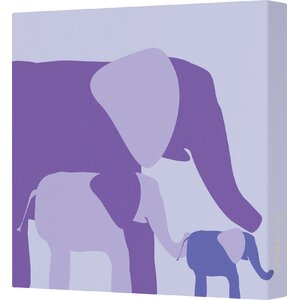Ellen Graphic Elephant Canvas Artwork by Viv + Rae